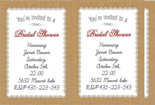free wedding shower party invitation