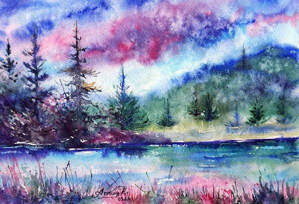 watercolor nature painting