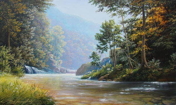 realistic nature painting