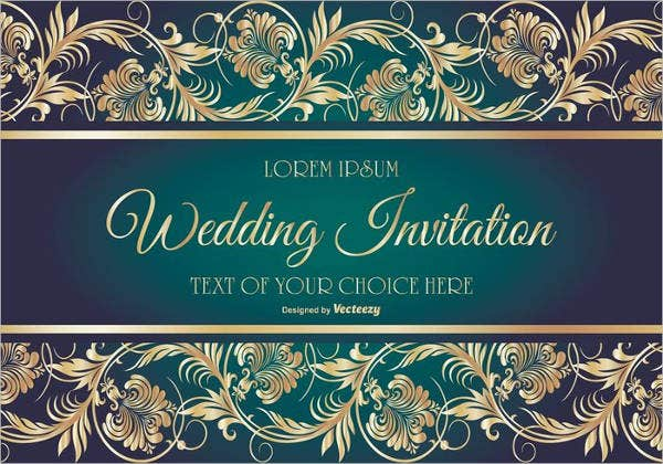 free wedding reception party invitation