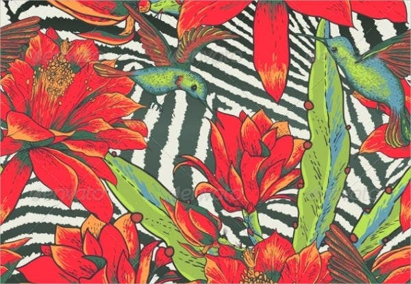 Vintage Tropical Pattern