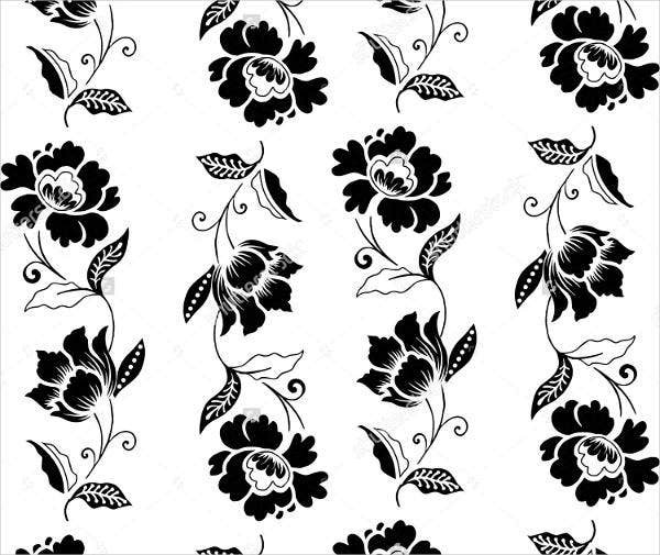 black and white batik pattern