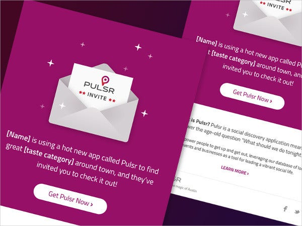 pulsr email invitation1