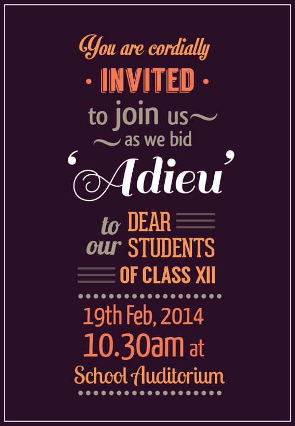 school farewell invitation format