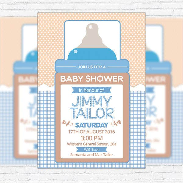 premium baby shower flyer