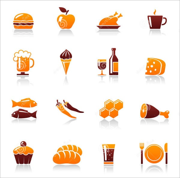 food and drinks icons1