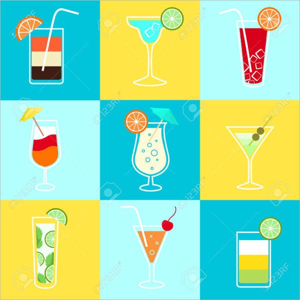 Party Drinks Icons
