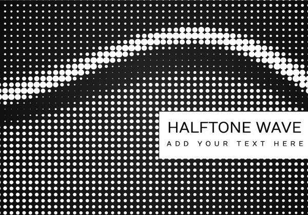 black-and-white-halftone-pattern