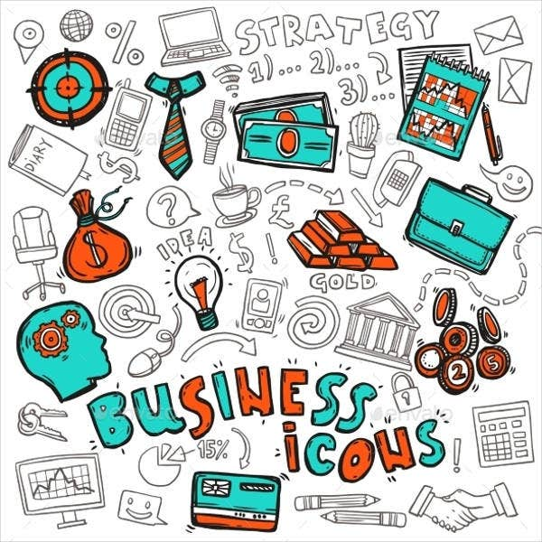 business-doodle-icons