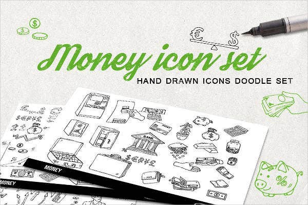 money-doodle-icons