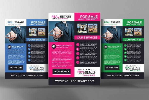 real estate brochure templates psd free download - 9 realtor flyers printable psd ai vector eps format