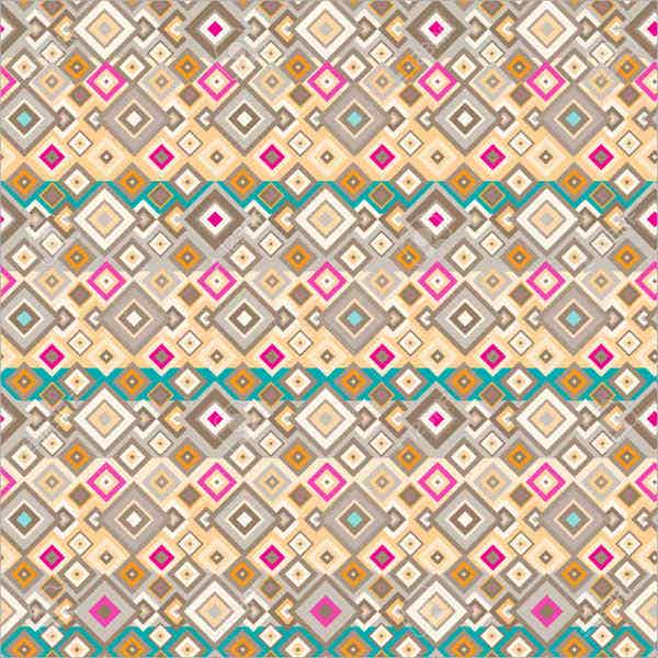 geometric hippie pattern