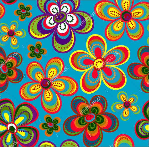 Hippie Flowers Pattern