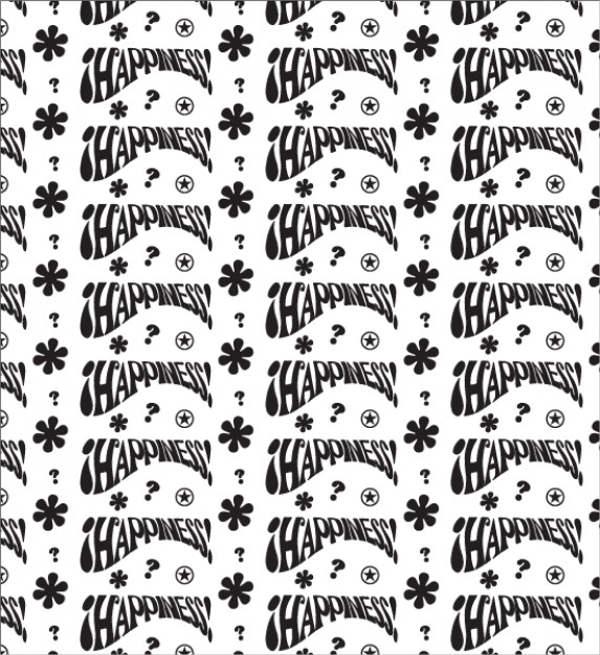 Hippie Style Retro Pattern