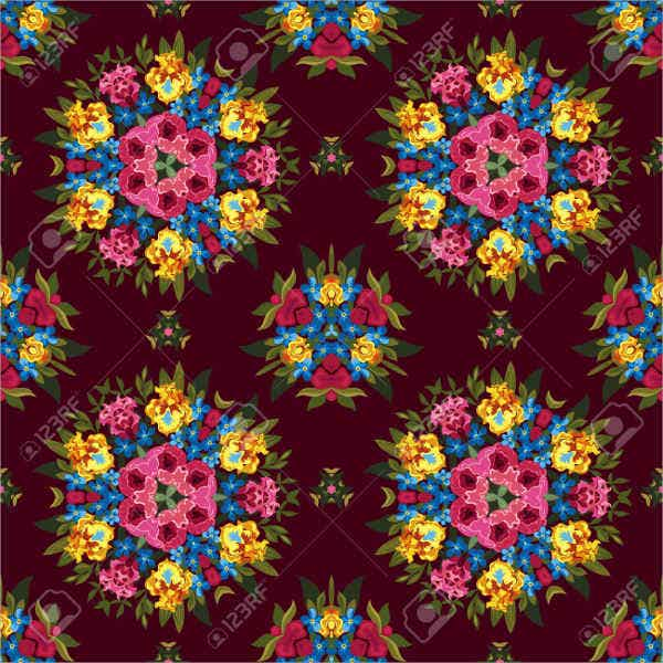 seamless hippie pattern