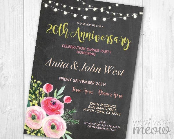 printable-wedding-anniversary-dinner-invitation