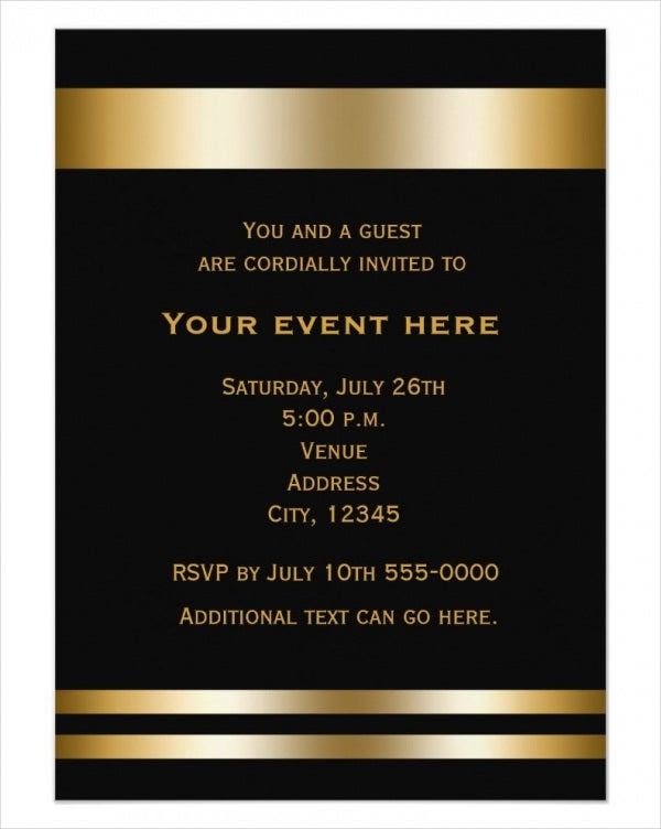 Printable Formal Business Dinner Invitation For Printable Dinner Invitations