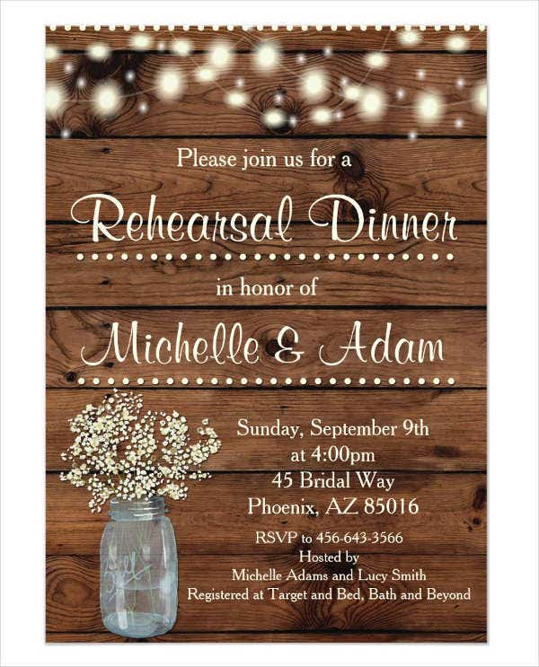 graphic about Printable Rehearsal Dinner Invitations referred to as 62+ Printable Meal Invitation Templates - PSD, AI, Phrase