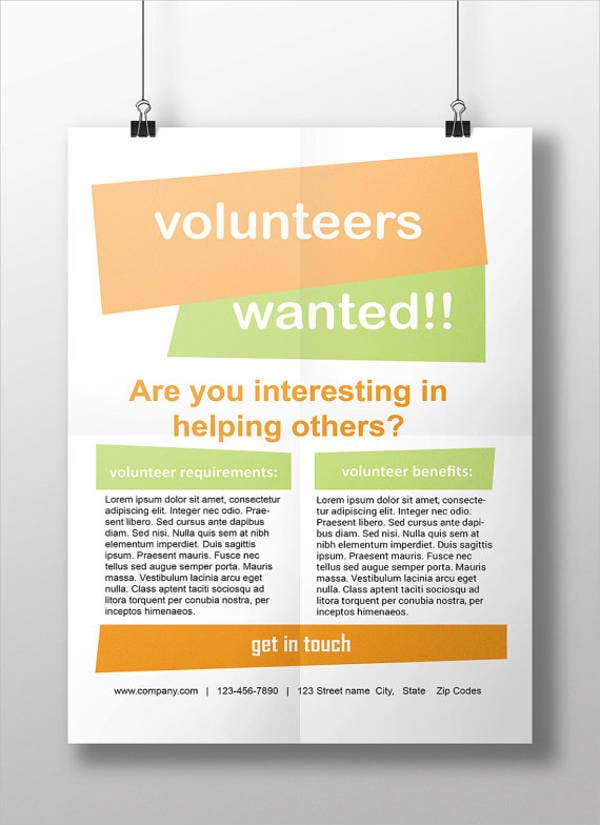 Volunteer Flyer Printable PSD AI Vector EPS Format Download - Volunteer flyer template