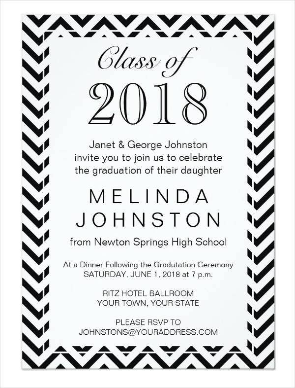 Printable Graduation Dinner Invitation Card  Printable Dinner Invitations