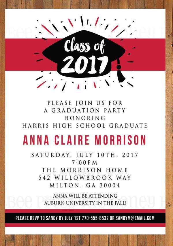 39 Printable Dinner Invitation Templates – Graduation Dinner Invitations