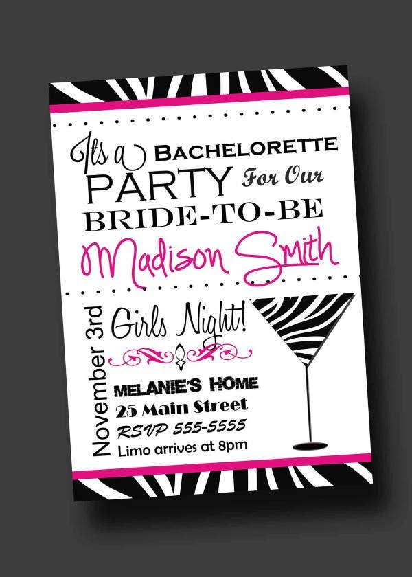graphic regarding Free Printable Bachelorette Party Invitations named 12+ Bachelorette Celebration Invites - PSD, AI, Vector EPS