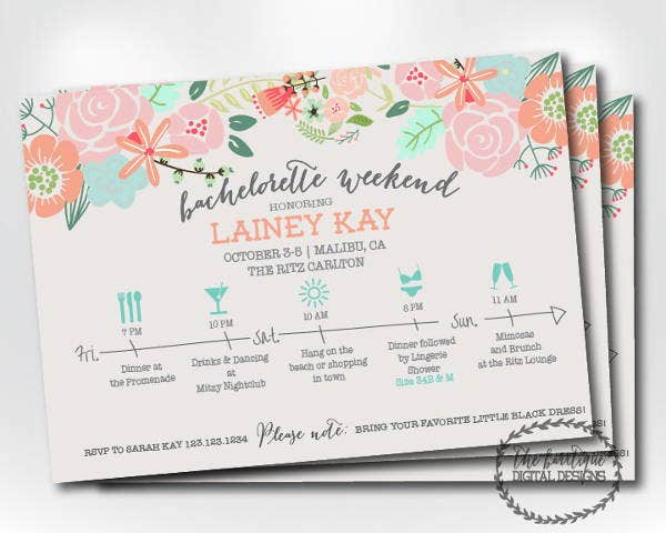 sample bachelorette party invitation
