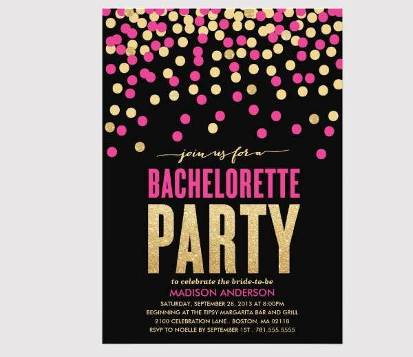 shine-bachelorette-party-invitation