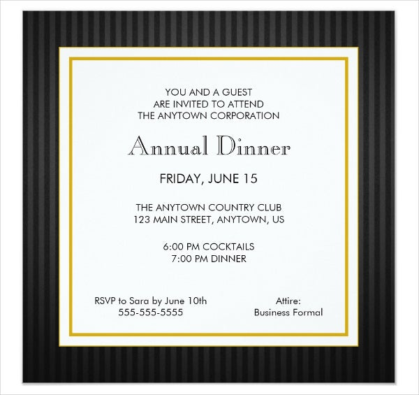 Printable Dinner Invitation Templates  Free  Premium Templates