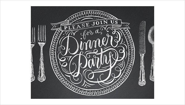 free printable dinner party invitation