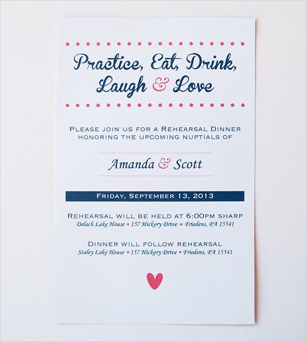photograph about Printable Rehearsal Dinner Invitations identify 62+ Printable Supper Invitation Templates - PSD, AI, Term
