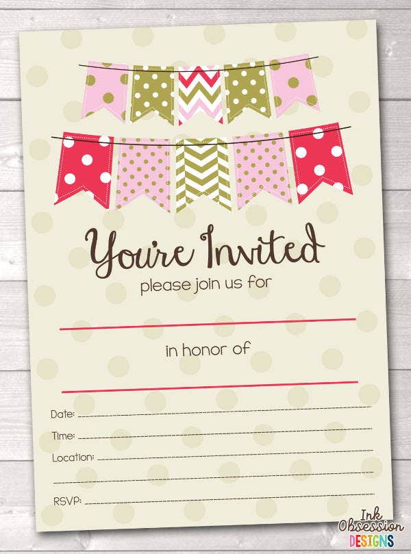 7+ Blank Party Invitations - Free Editable PSD, AI, Vector EPS ...