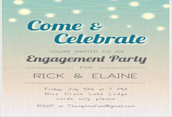 free engagement party invitation card