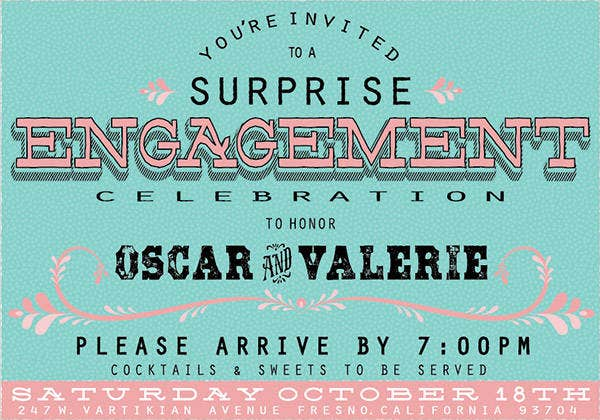 free email engagement party invitation