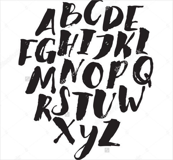 hand-drawn-brush-font