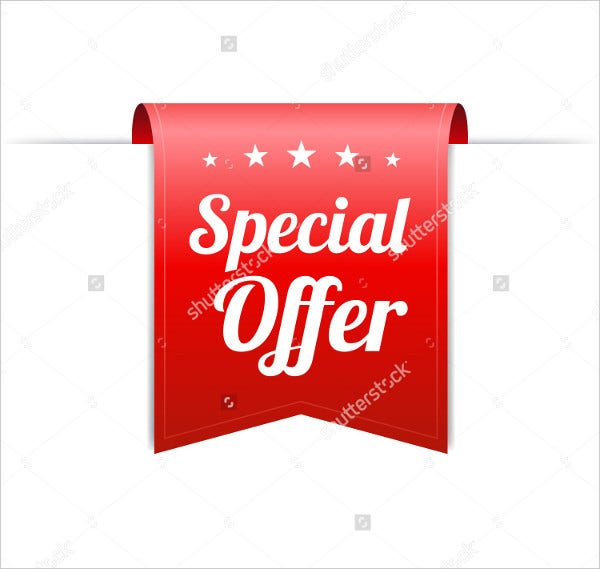 Special Discount Offer Label