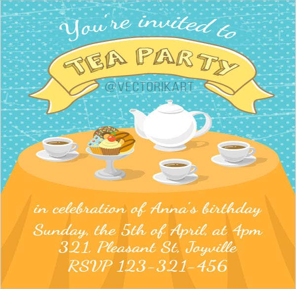 free printable tea party invitation2