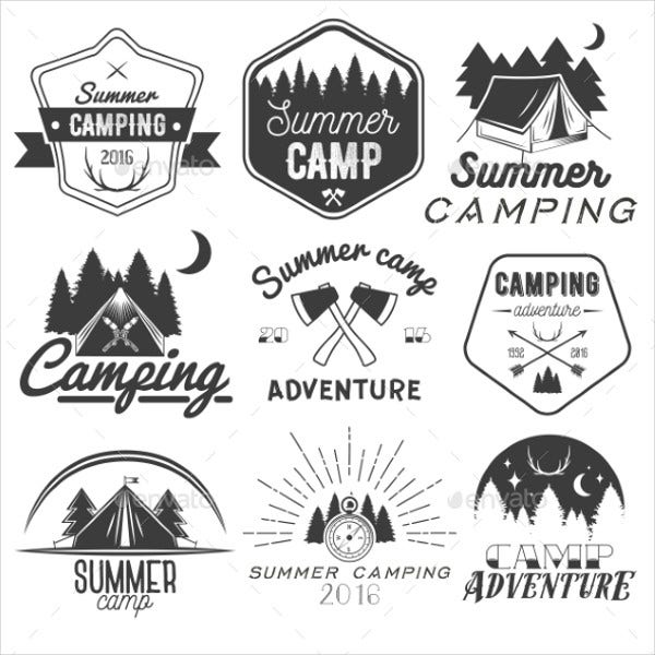 summer camp label