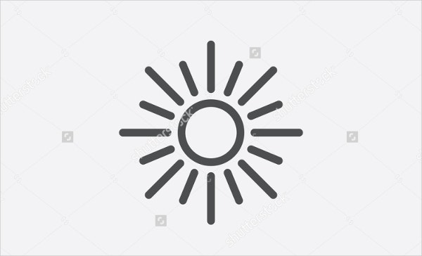 black-and-white-sun-icon