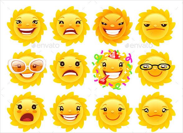 emoji sun icon
