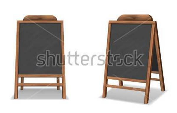 chalkboard restaurant vector