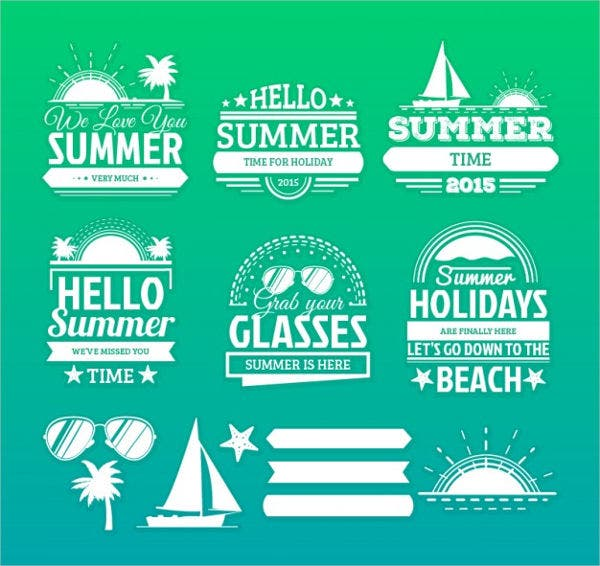 summer label vectors