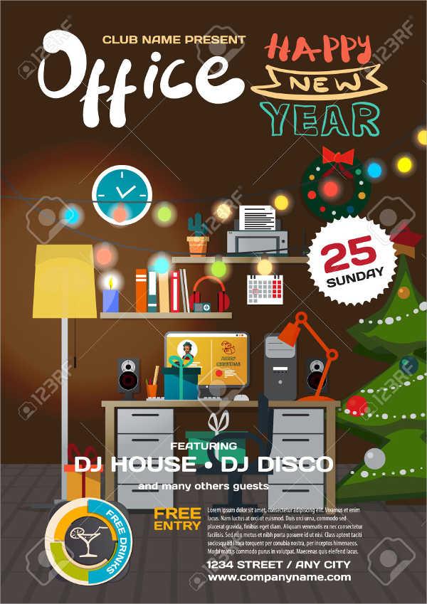 free office holiday party invitation