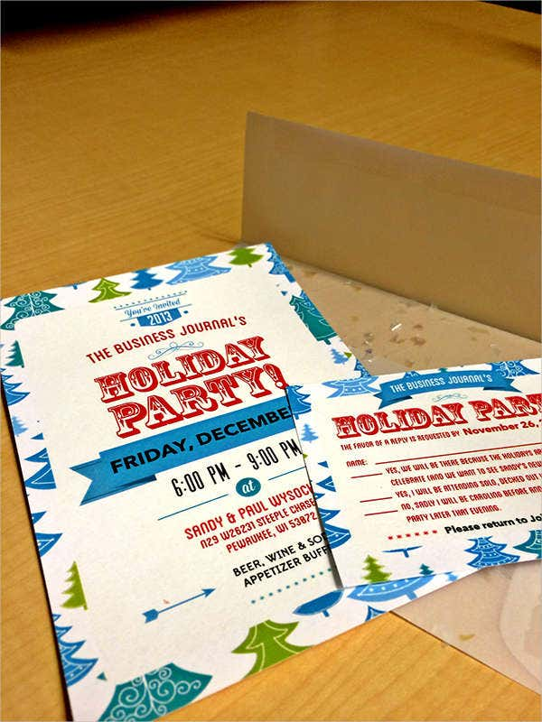 free business holiday party invitation