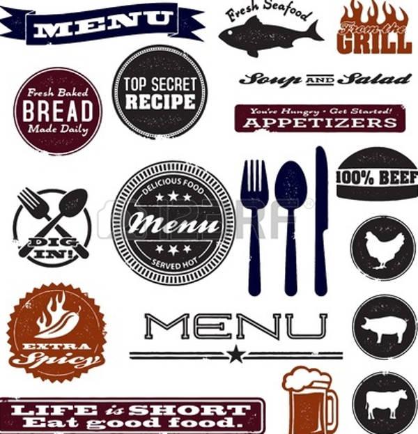 vintage restaurant vector
