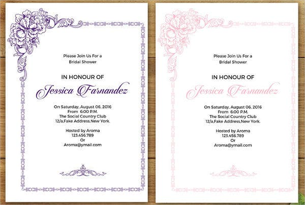 free pintable bridal shower party invitation