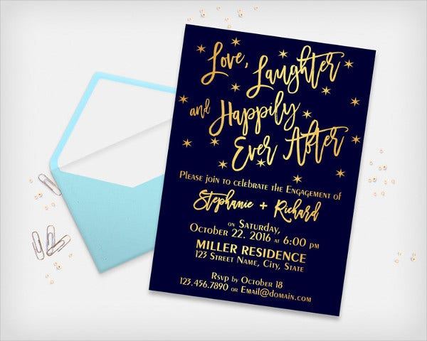 Engagement Party Invitation Card Template