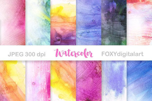 Seamless Watercolor Paper Texture