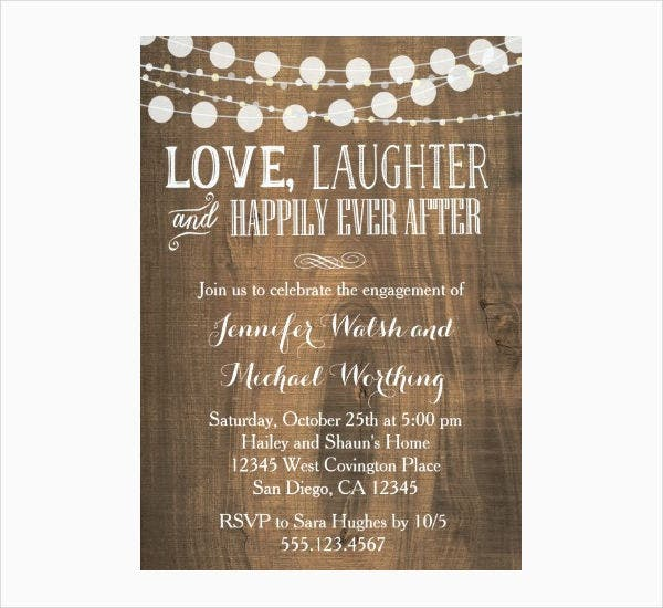 rustic engagement party invitation - Engagement Party Invite