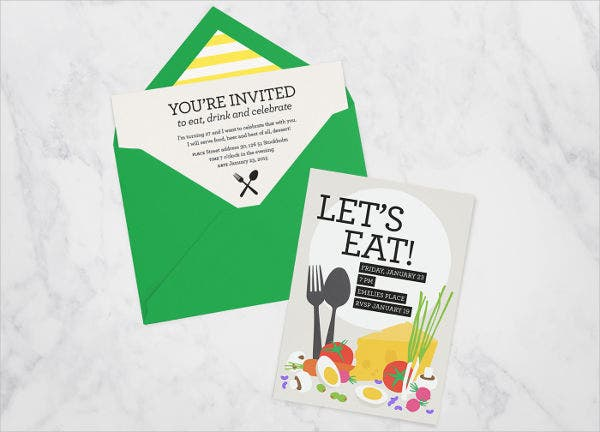 free birthday dinner party invitation